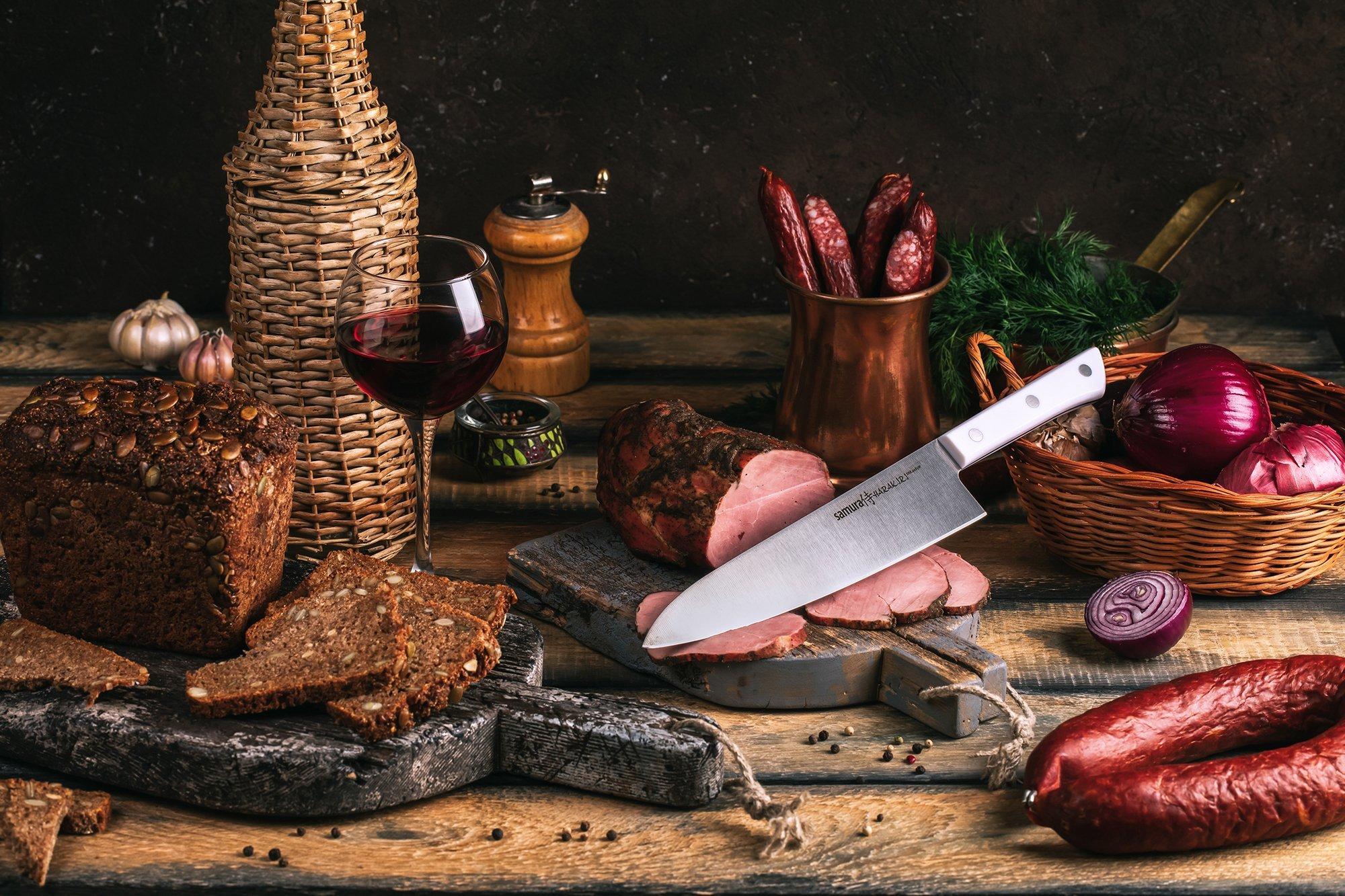 Фото 7 - Нож кухонный Шеф Samura