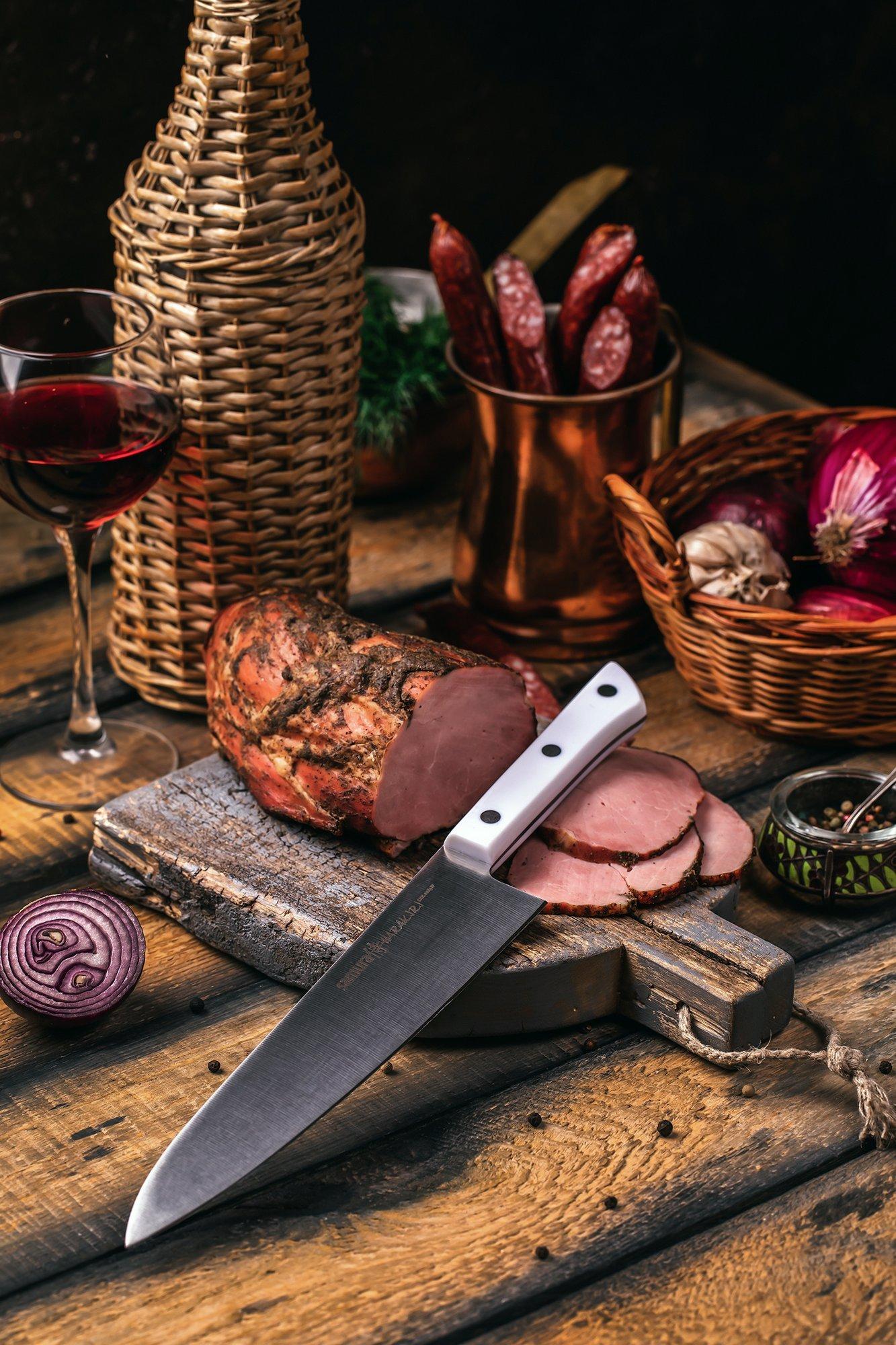Фото 8 - Нож кухонный Шеф Samura
