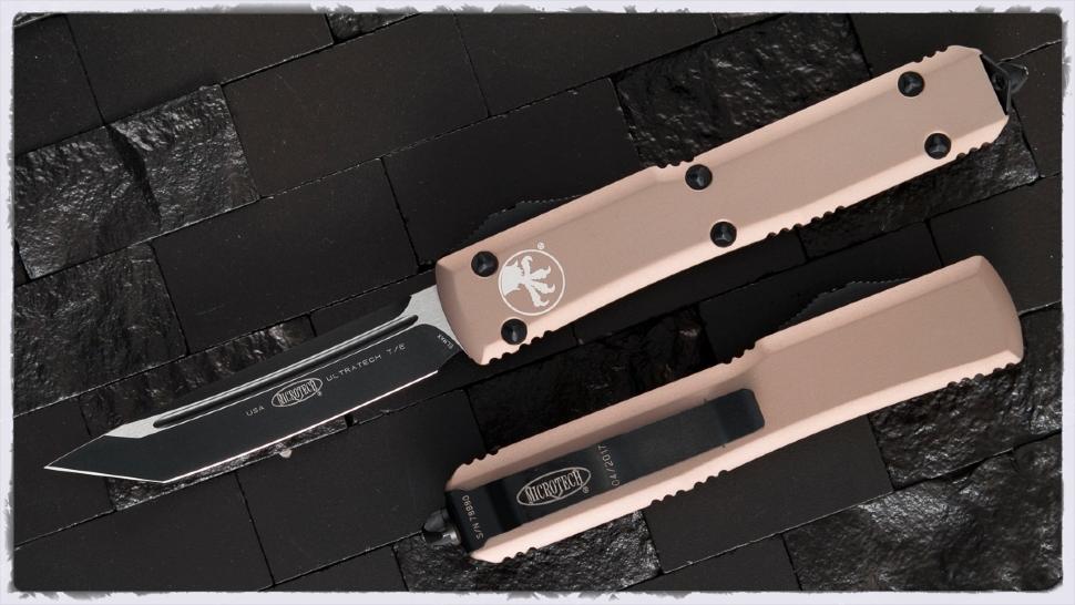 Автоматический выкидной нож Microtech Ultratech T/E MT_123-1TA, сталь Elmax, рукоять алюминий