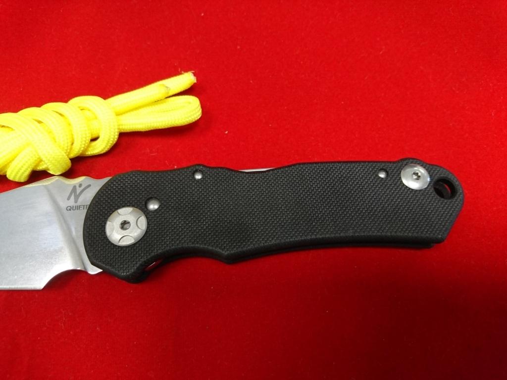 Фото 8 - Складной нож Fantoni, Nilte Quiete, FAN/QUIETEMirBk, сталь Sandvik 14C28N, рукоять стеклотекстолит G-10