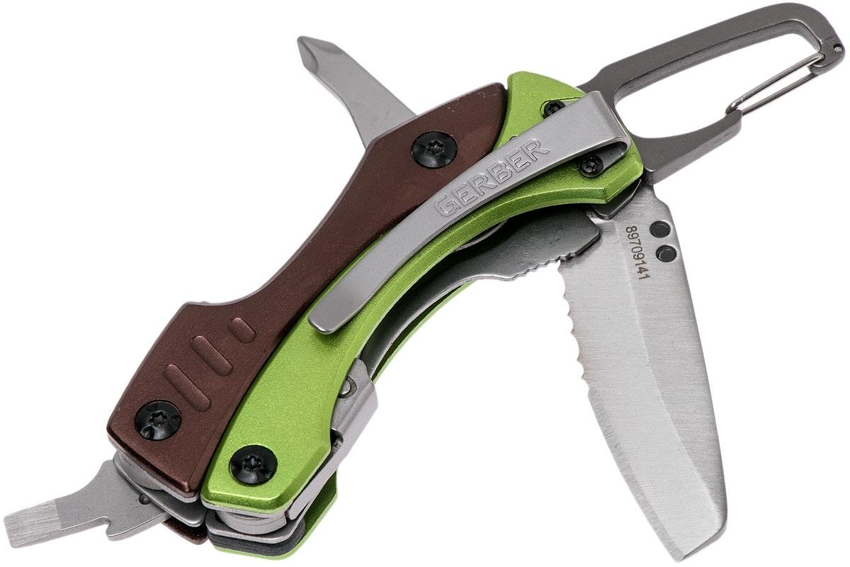 Фото 10 - Мультитул Gerber Crucial Tool Green, зеленый, в блистере