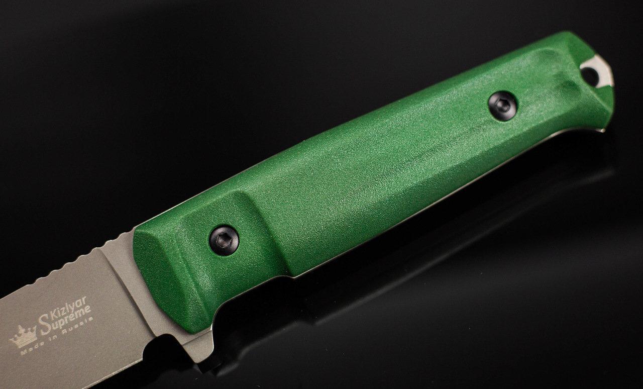 Фото 10 - Тактический нож Sturm PGK DSW олива, Кизляр от Kizlyar Supreme