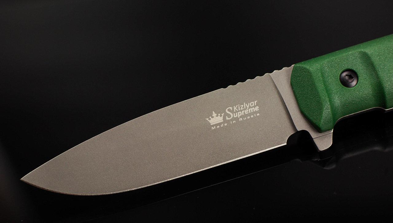 Фото 9 - Тактический нож Sturm PGK DSW олива, Кизляр от Kizlyar Supreme