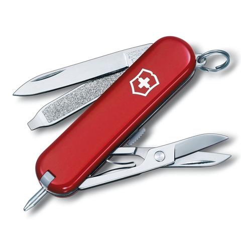 Нож перочинный Victorinox Signature, сталь X55CrMo14, рукоять Cellidor®, красный. Вид 1