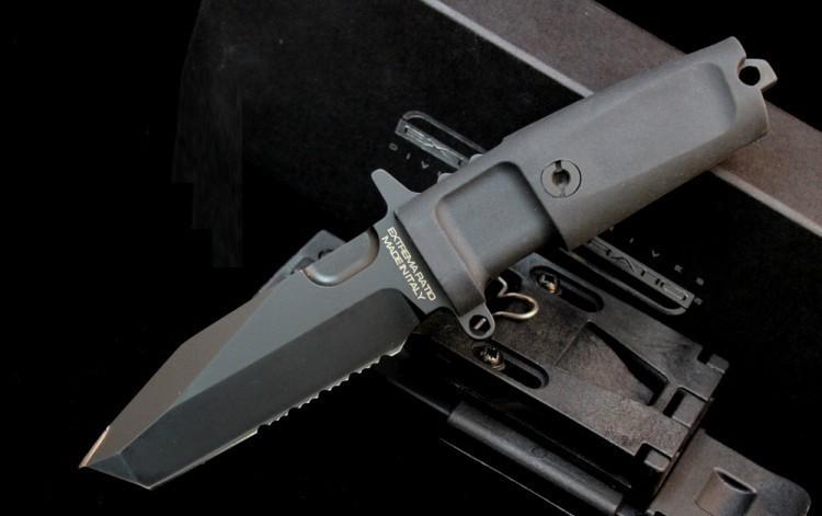 Нож с фиксированным клинком Extrema Ratio Fulcrum Compact Black, сталь Bhler N690, рукоять пластик
