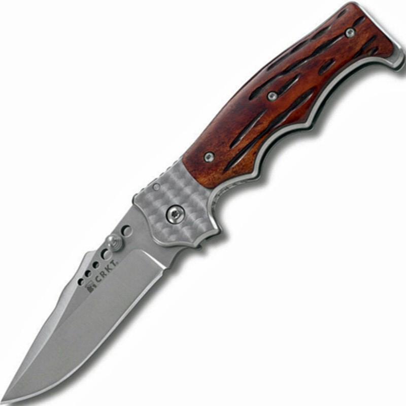 Фото 7 - Полуавтоматический складной нож Natural 2 Jig Bone, CRKT 7080J, сталь 8Cr13MOV, рукоять кость, коричневый