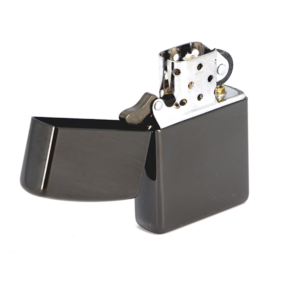 Фото 5 - Зажигалка ZIPPO Classic с покрытием Ebony™, латунь/сталь, чёрная, глянцевая, 36x12x56 мм