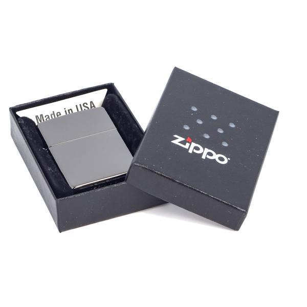 Фото 6 - Зажигалка ZIPPO Classic с покрытием Ebony™, латунь/сталь, чёрная, глянцевая, 36x12x56 мм