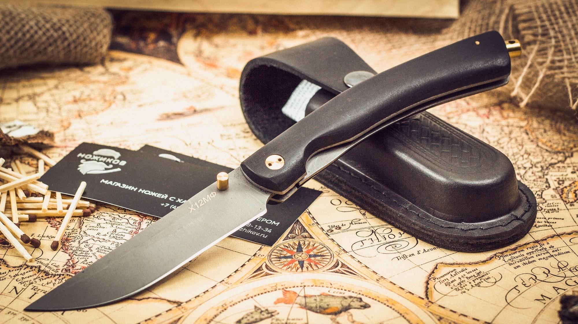 Фото 6 - Складной нож Кайрос, сталь Х12МФ, граб от Марычев