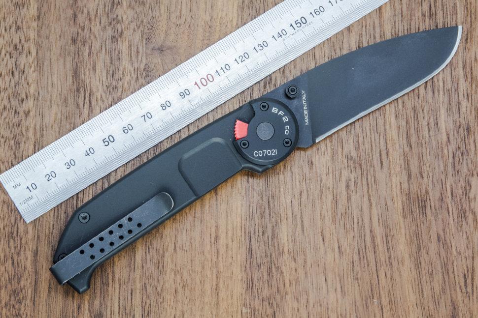 Фото 14 - Складной нож Extrema Ratio BF2 Classic Drop Point Black, сталь Bhler N690, рукоять алюминий