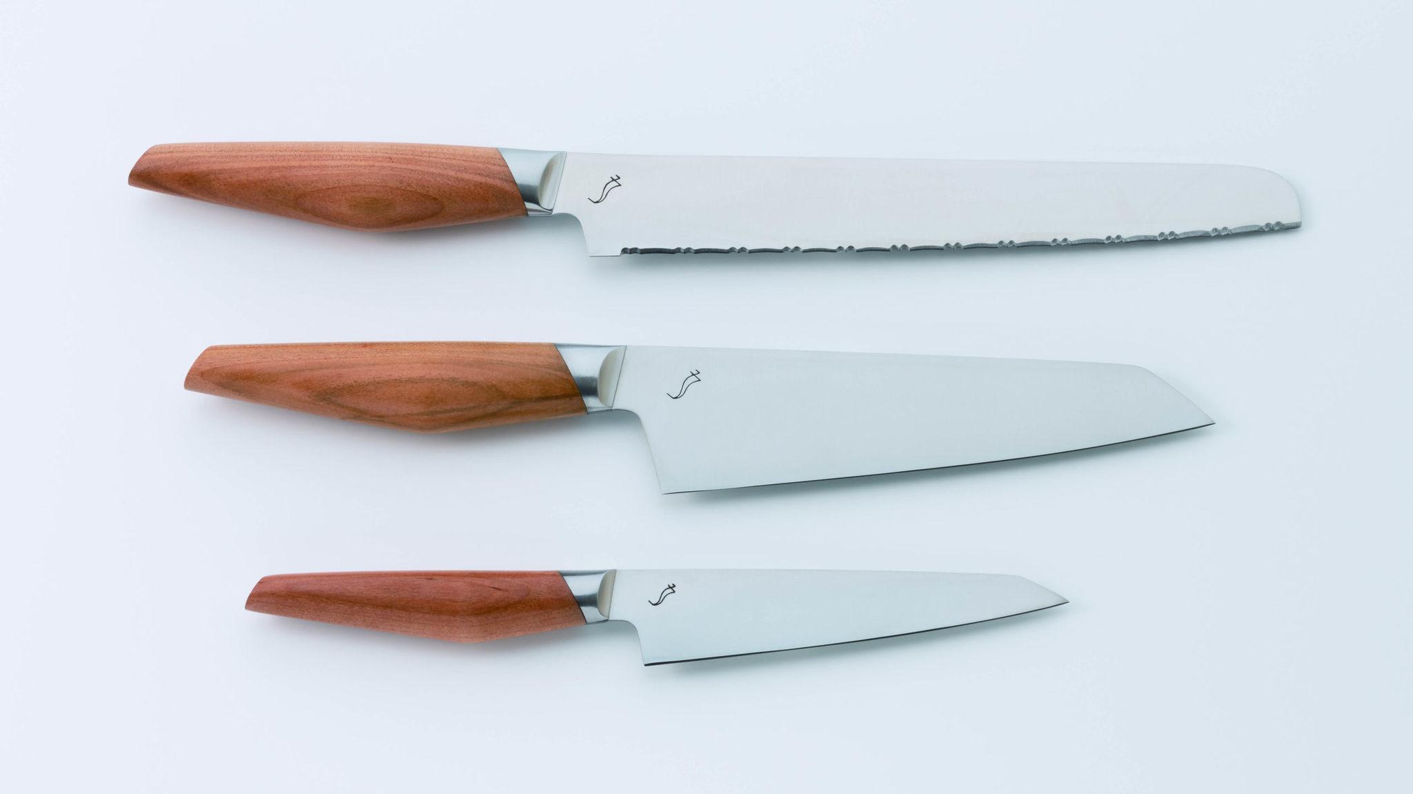 Набор кухонных ножей Kasane, Kasumi, SCS-Set, сталь Molybdenum Vanadium, вишня