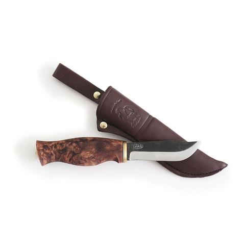 Нож Ahti Puukko Jahti 98, финская береза, сталь W75. Вид 1