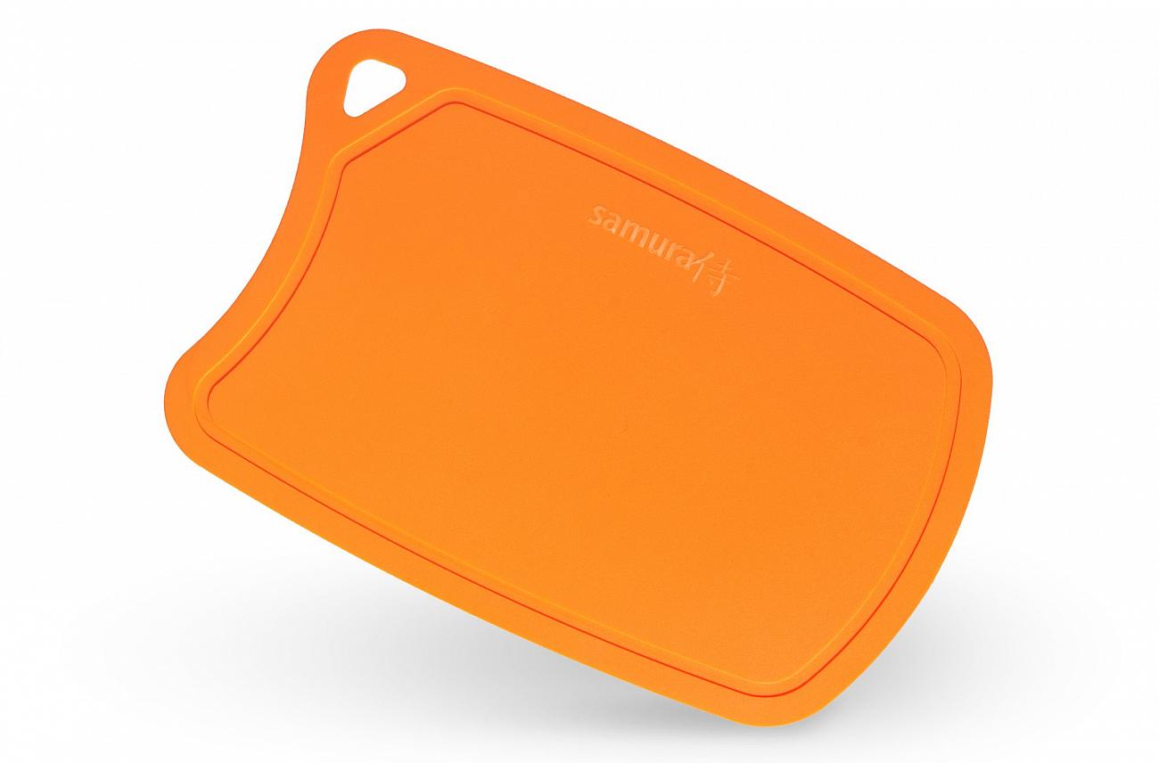 Доска Samura термопластиковая антибактериальная, 380х250х2 мм, оранжевая, SF-02OR