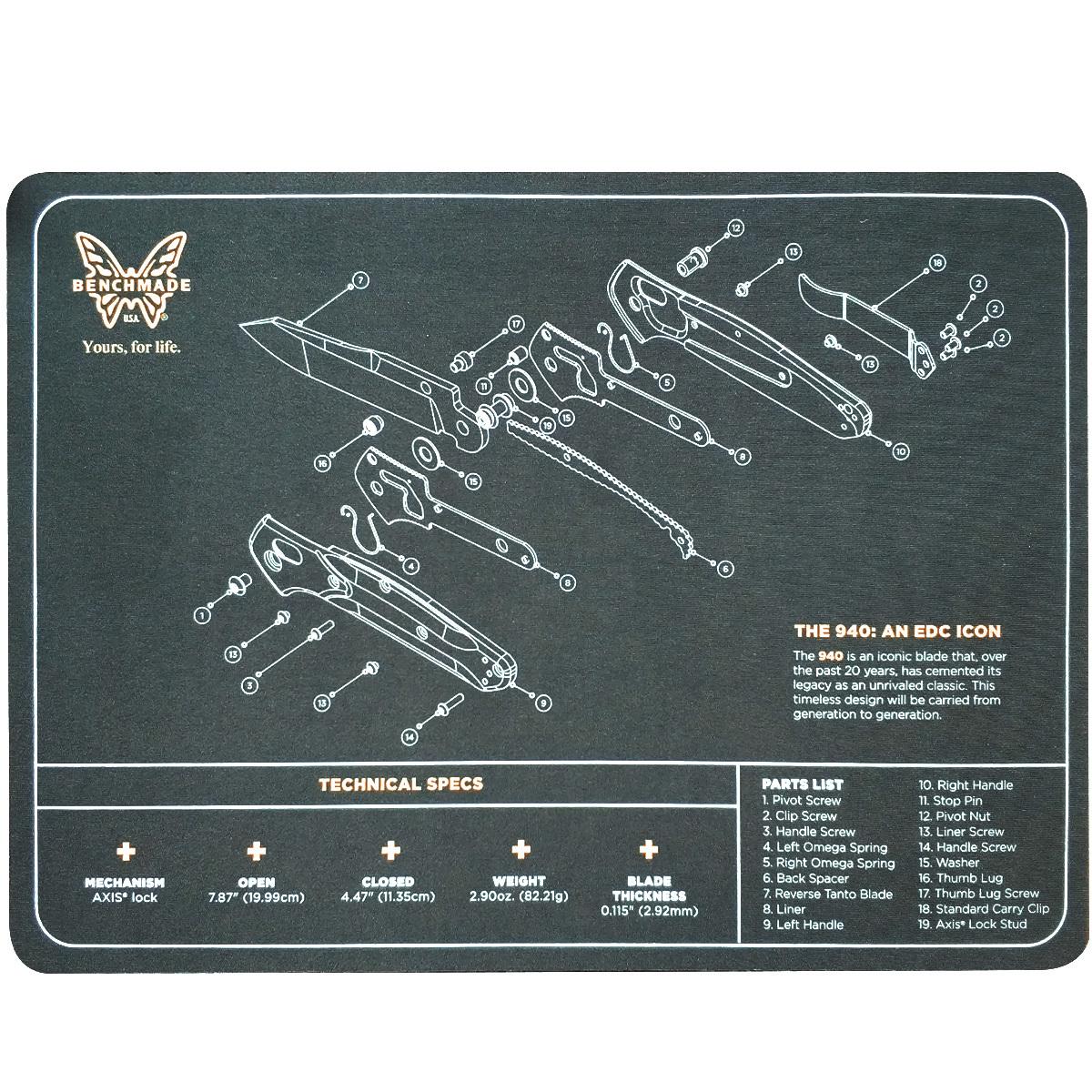 Коврик настольный Benchmade Maintenance mat