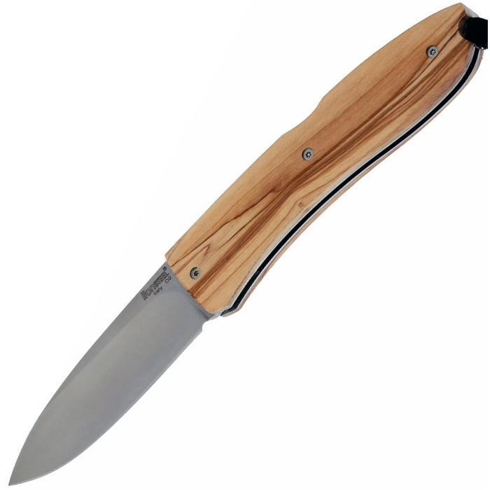 Фото - Нож складной Big Opera Satin Finish D2 Tool Steel, Olive Wood Handle от Lion Steel