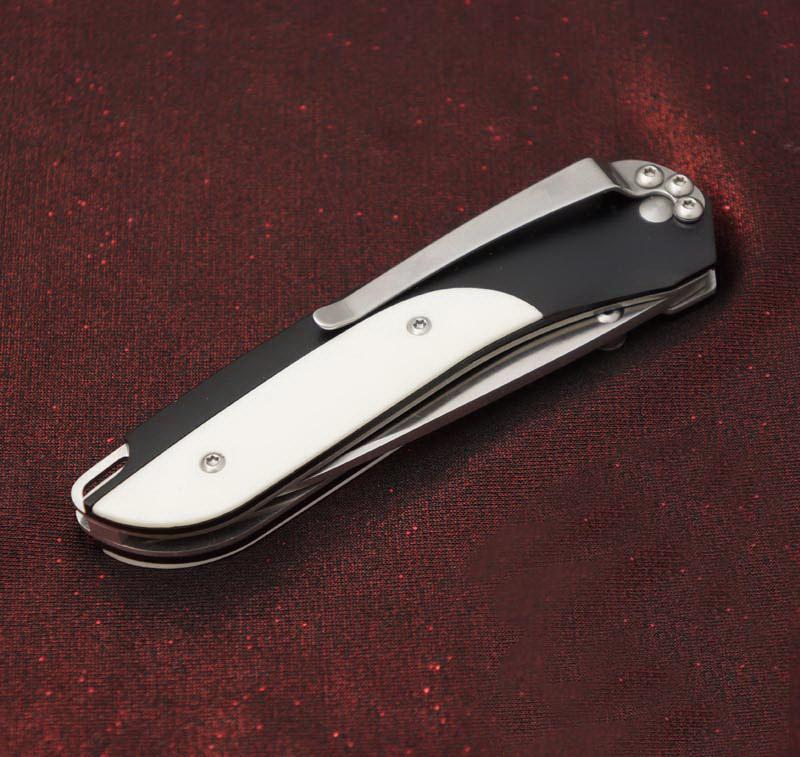 Фото 7 - Полуавтоматический складной нож Delegate EDC, CRKT 1055, сталь 8Cr14MoV, рукоять алюминий/кость