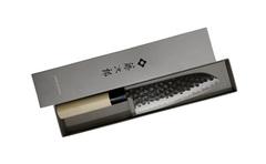 Нож Сантоку Tojiro Hammered Finish, F-1112, сталь VG-10, чёрный, в картонной коробке, фото 3