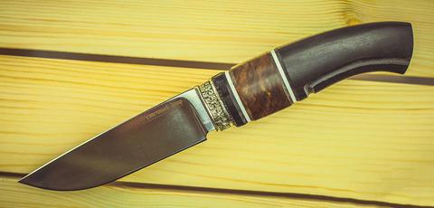 Нож Гид, сталь K340, рукоять граб, вставка из карельской березы. Вид 1