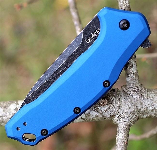 Фото 5 - Нож складной KERSHAW 1776NBBW - Link, сталь 420HC, рукоять анодированный алюминий, синий