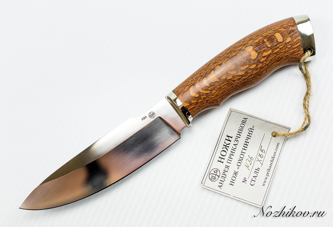 Нож Охотничий №36 из кованой стали ХВ5