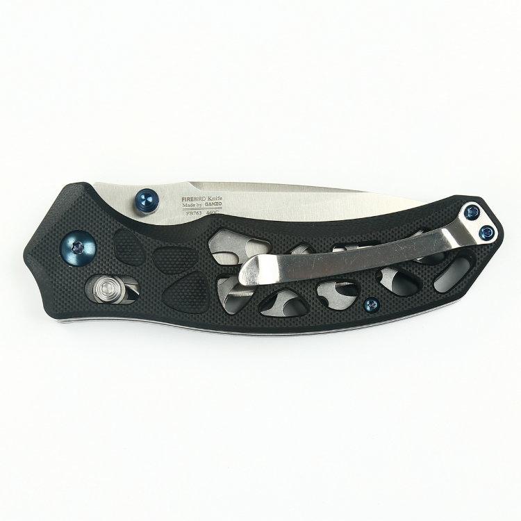 Фото 5 - Нож складной Firebird (by Ganzo), FB7631-BK,черный