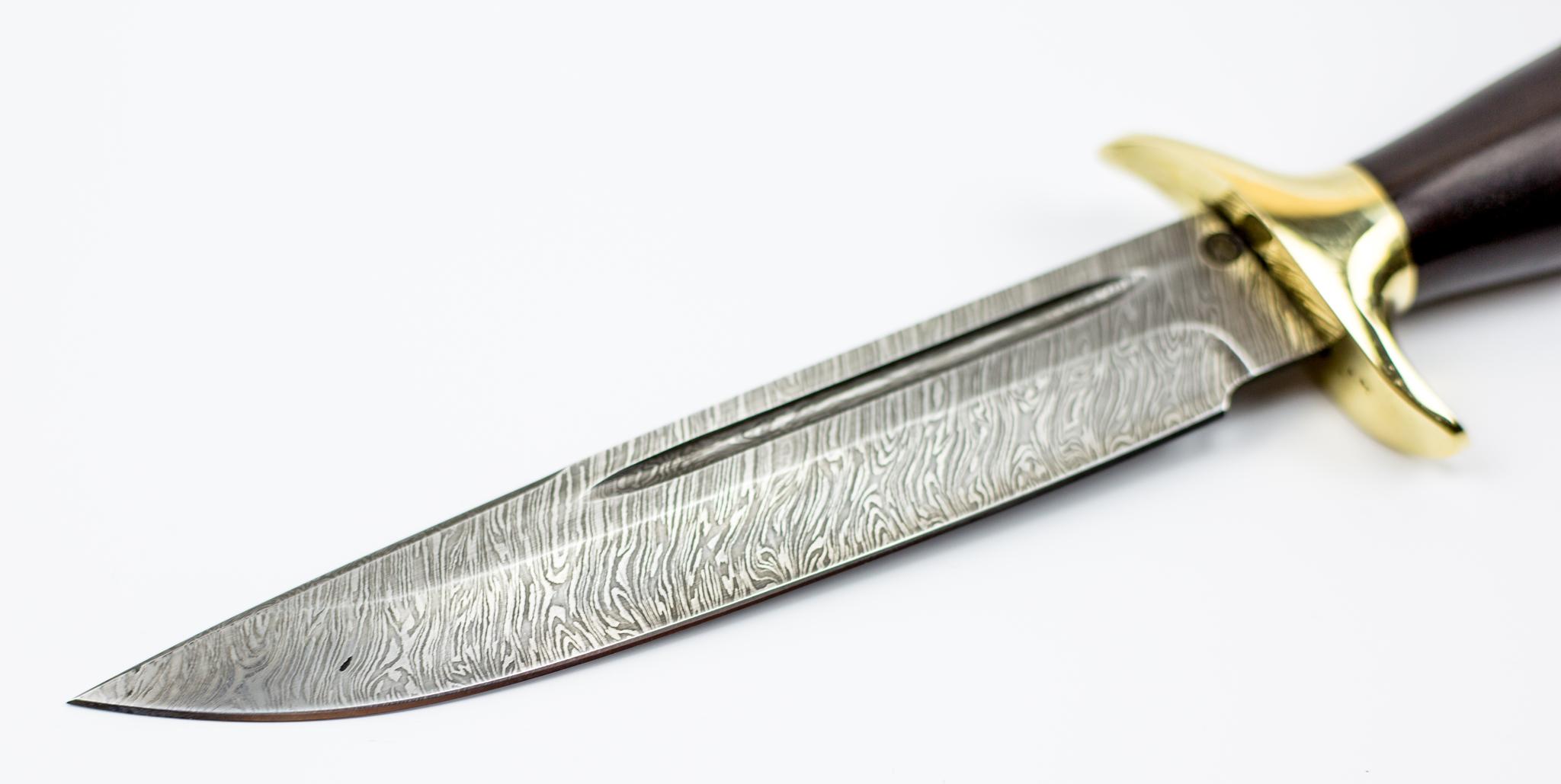 Фото 13 - Нож Норвежец, сталь дамаск, рукоять граб от Ножи Крутова
