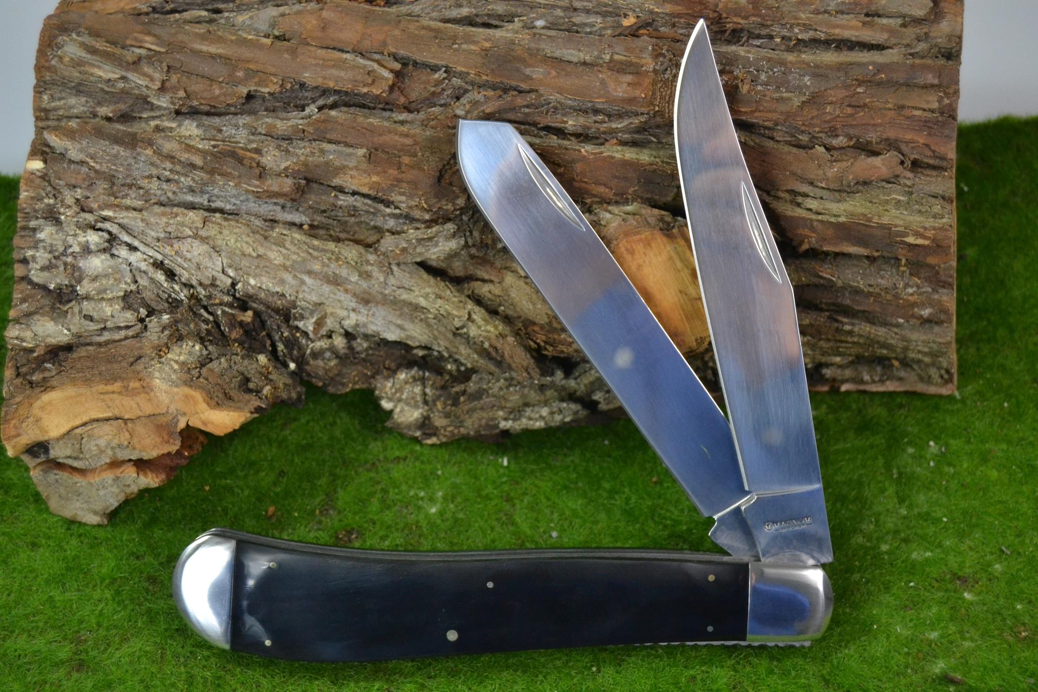 Фото 5 - Нож складной большого размера с 2-мя лезвиями Magnum Majestic - Boker 01LL2076, сталь 440A Satin, рукоять ABS-пластик, чёрный