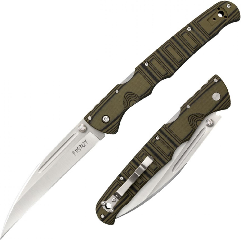Складной нож Frenzy I, S35VN, Green/Black G10 Handles 14.0 см.Складной нож Frenzy I, American S35VN, Green/Black G10 Handles 14.0 см.
