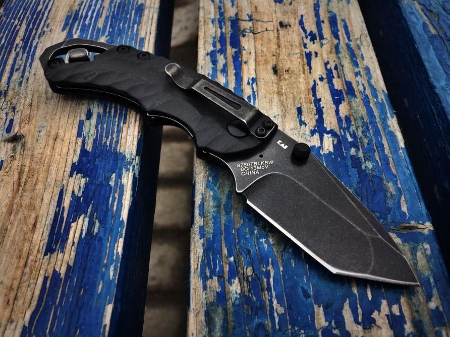 Фото 4 - Нож складной Shuffle II - KERSHAW 8750TBLKBW, сталь 8Cr13MoV c покрытием BlackWash™, рукоять термопластик GFN чёрного цвета