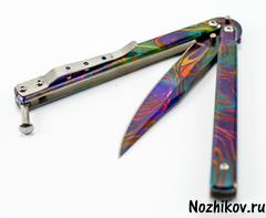 Нож-бабочка (балисонг) Радуга