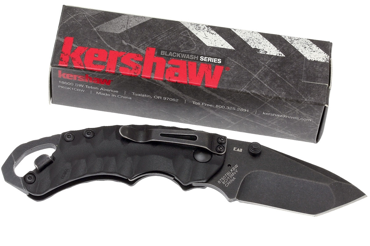 Фото 11 - Нож складной Shuffle II - KERSHAW 8750TBLKBW, сталь 8Cr13MoV c покрытием BlackWash™, рукоять термопластик GFN чёрного цвета