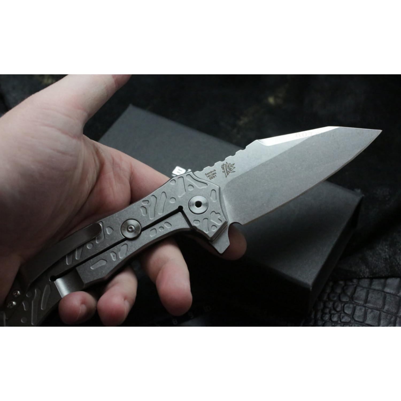 Фото 7 - Нож складной CFM-A1 - Boker Plus 01BO766, сталь Sandvik™ 14C28N Stonewash, материал стеклотекстолит G10/нержавеющая сталь