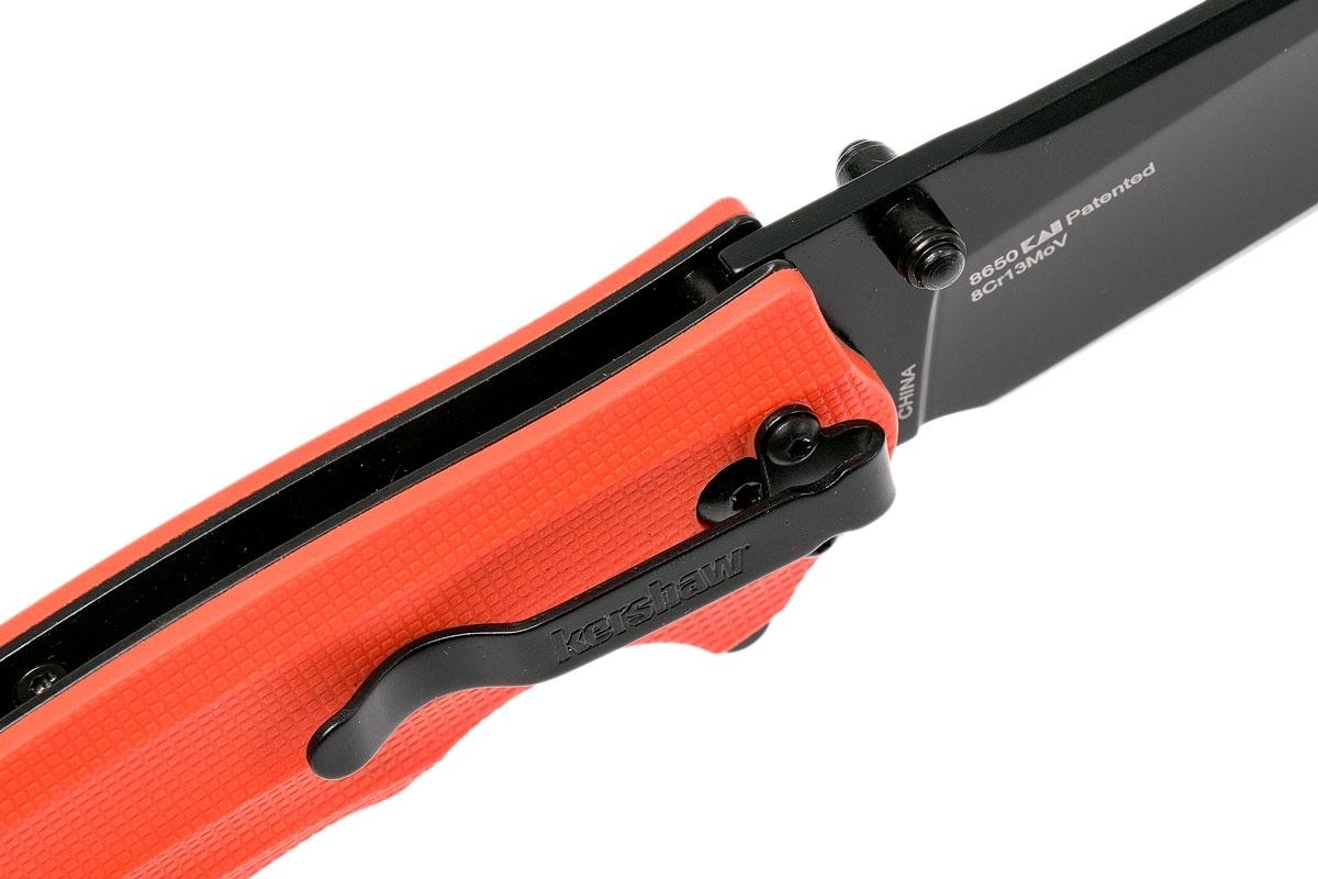 Фото 13 - Складной нож Barricade KERSHAW 8650, сталь 8Cr13MoV, рукоять GFN термопластик, оранжевый