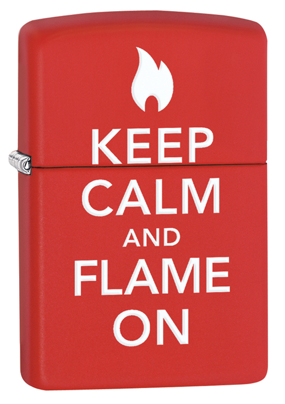 Зажигалка ZIPPO Classic с покрытием Red Matte с надписью зажигалка zippo classic с покрытием meadow™
