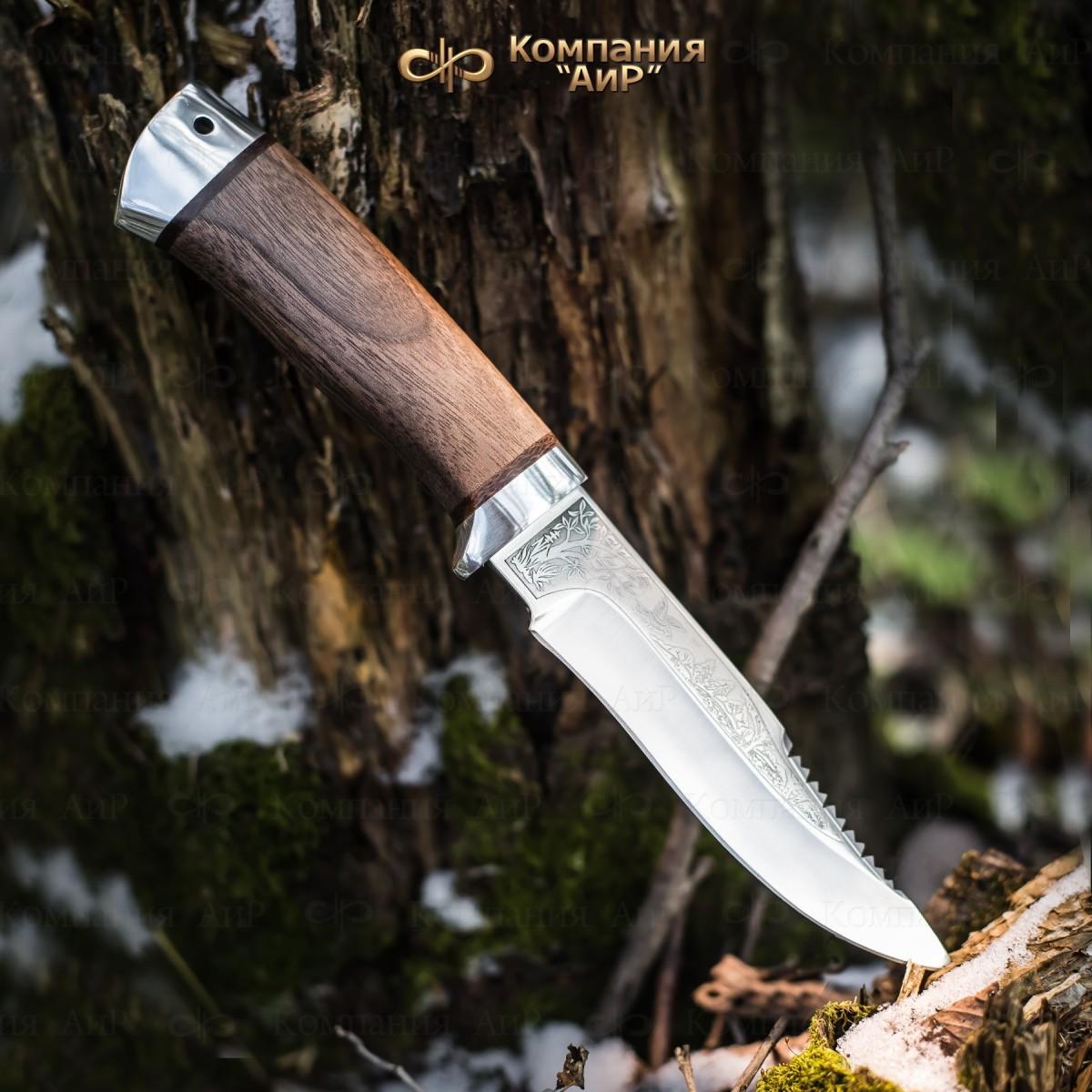 Фото - Нож АиР Стрелец, сталь М390, рукоять дерево нож кукри nepal kukri house sirupate 15 сталь 1095 carbon steel рукоять красное дерево