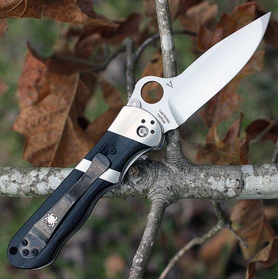 Фото 7 - Нож складной Lil' Sub-Hilt™ by Butch Vallotton - Spyderco 224GP, сталь Crucible CPM® S30V™ Satin Plain, рукоять стеклотекстолит G10, чёрный