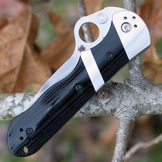 Фото 8 - Нож складной Lil' Sub-Hilt™ by Butch Vallotton - Spyderco 224GP, сталь Crucible CPM® S30V™ Satin Plain, рукоять стеклотекстолит G10, чёрный