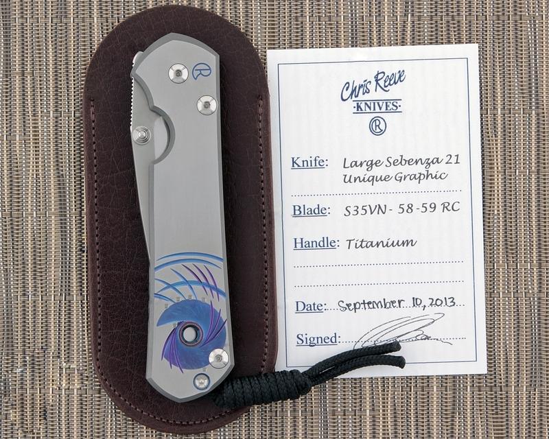 Фото 9 - Нож складной Large Sebenza 21 Unique Graphics-2 от Chris Reeve