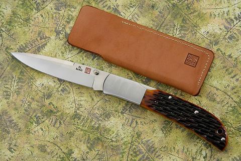 Нож складной Al Mar Eagle Classic, сталь AUS-8 Talon™, рукоять Jigged Bone. Вид 7