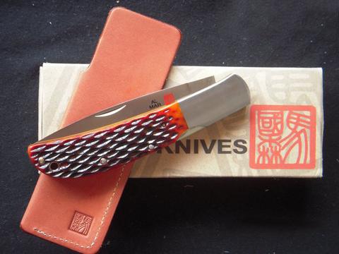 Нож складной Al Mar Eagle Classic, сталь AUS-8 Talon™, рукоять Jigged Bone. Вид 6