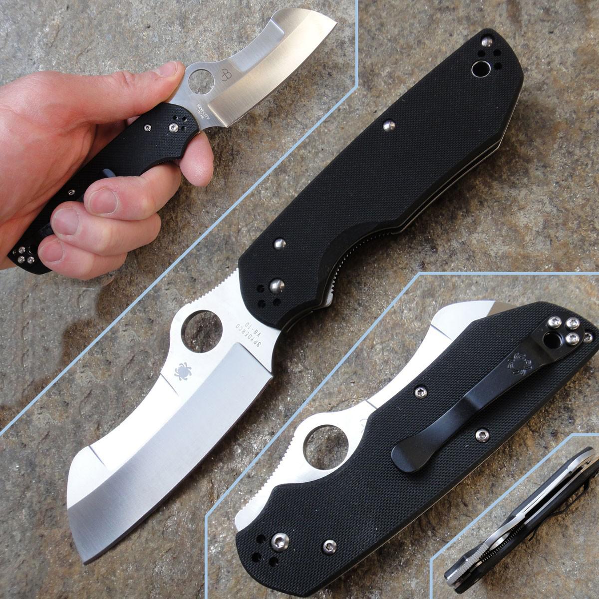 Фото 4 - Нож складной Rescue by Jason Breeden Spyderco 139GP, сталь VG-10 Satin Plain, рукоять стеклотекстолит G10, чёрный