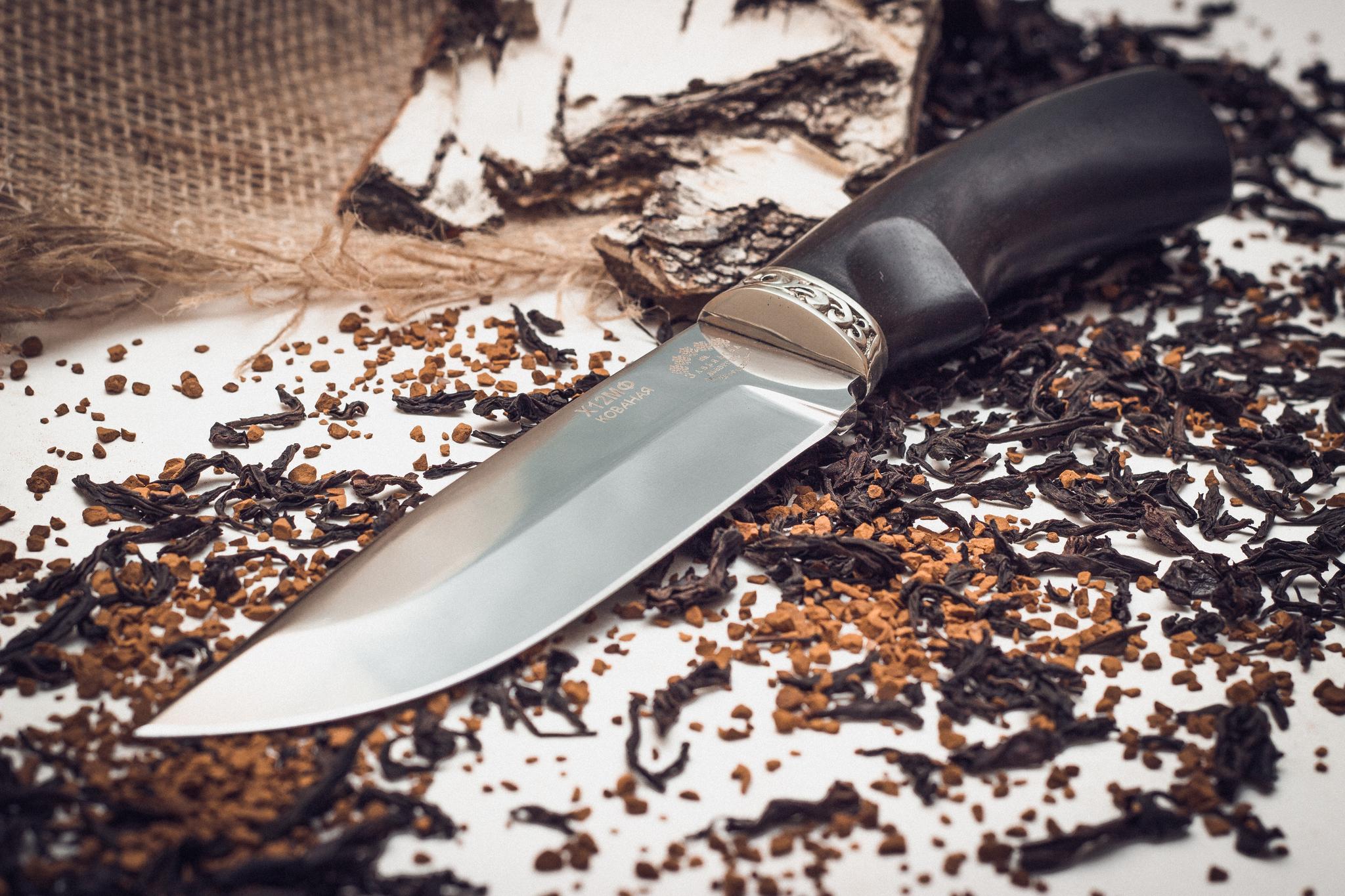 Фото 5 - Нож Курган черный граб от Кузница Завьялова