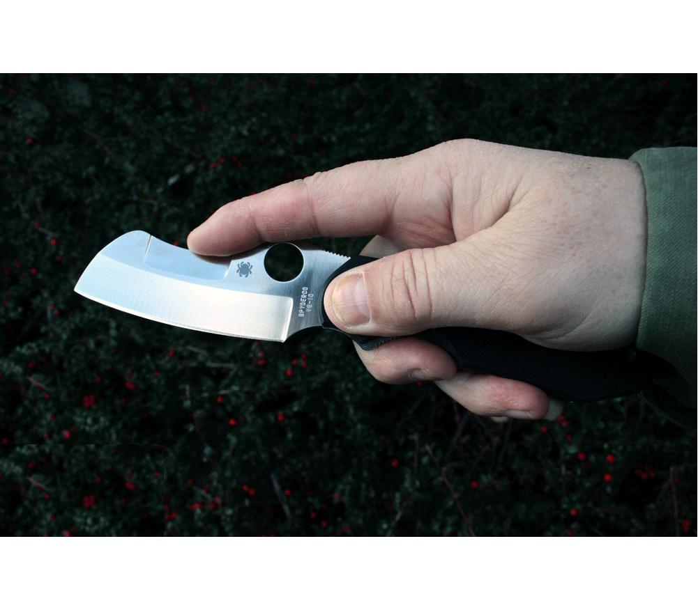 Фото 8 - Нож складной Rescue by Jason Breeden Spyderco 139GP, сталь VG-10 Satin Plain, рукоять стеклотекстолит G10, чёрный