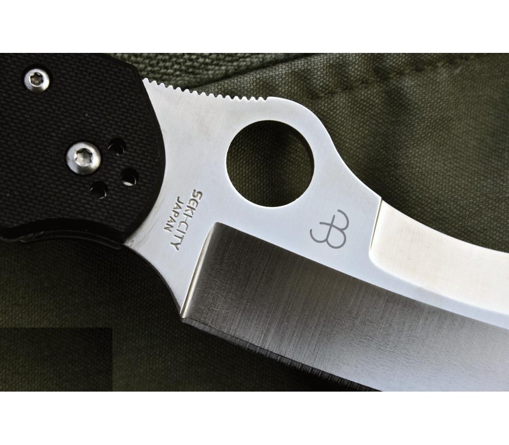 Фото 9 - Нож складной Rescue by Jason Breeden Spyderco 139GP, сталь VG-10 Satin Plain, рукоять стеклотекстолит G10, чёрный