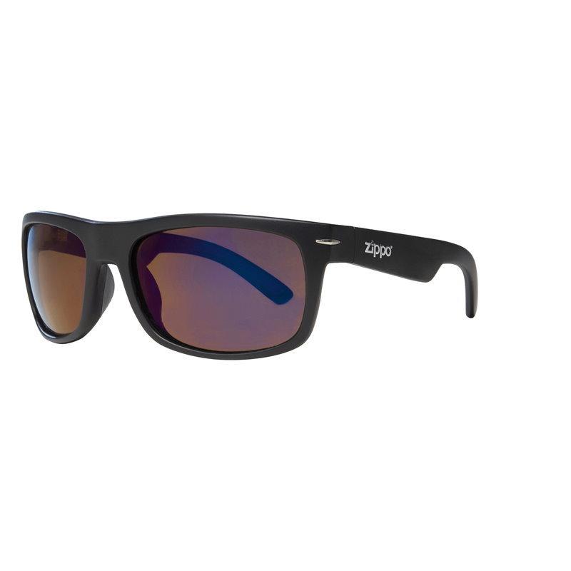 Фото - Очки солнцезащитные ZIPPO OB33-01, унисекс, чёрные, оправа из поликарбоната, поляризационные линзы очки солнцезащитные zippo ob70 01 унисекс чёрные оправа из поликарбоната