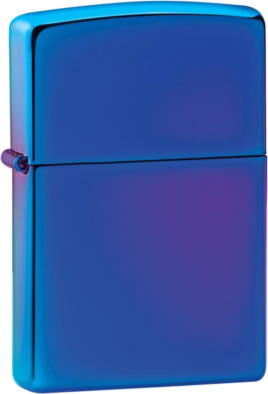 Зажигалка ZIPPO Classic с покрытием High Polish Indigo, латунь/сталь, синяя, глянцевая, 36x12x56 мм ключница zinger indigo kl 7 1 синяя