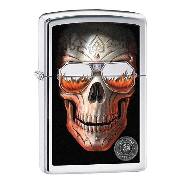 Зажигалка ZIPPO Anne Stokes с покрытием High Polish Chrome, латунь/сталь, серебристая, 36x12x56 мм зажигалка zippo classic орел с покрытием high polish chrome латунь сталь серебристая 36x12x56 мм