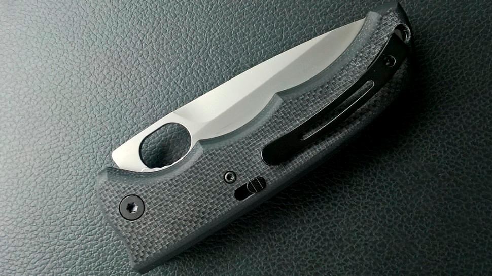Фото 15 - Складной нож двойного действия Amsterdam - Boker Plus 01BO541, сталь AUS-8 Bead Blasted, рукоять стеклотекстолит G10