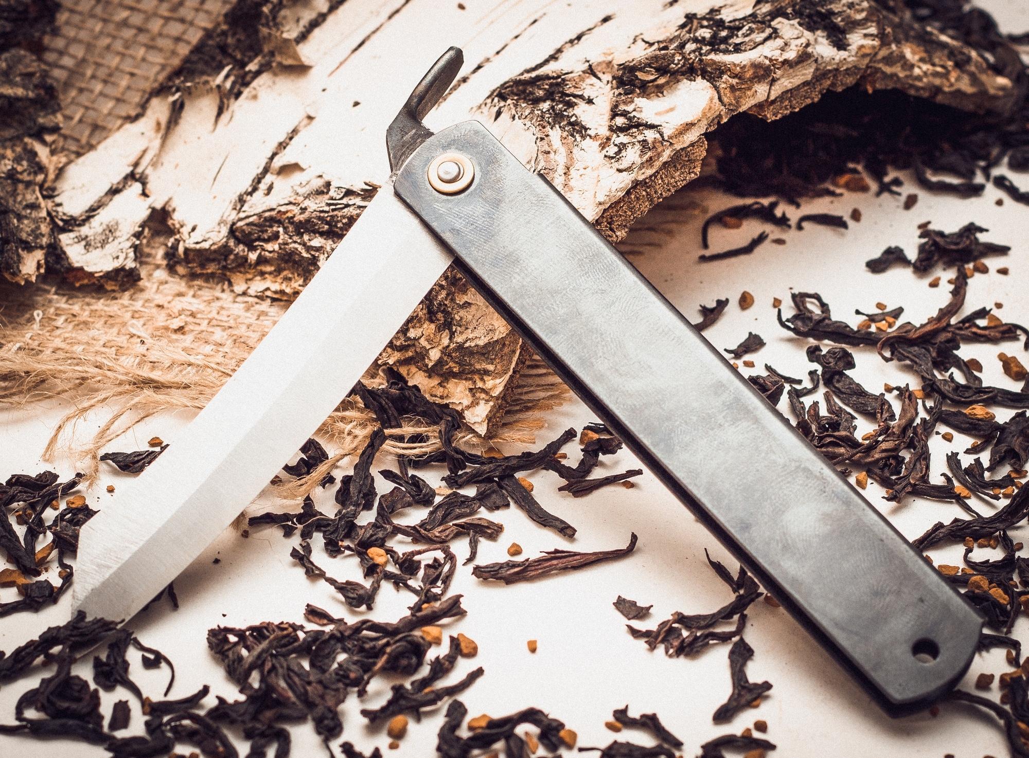 Фото 6 - Нож складной, клинок 80мм Hight carbon, рукоять черная, Nagao Higonokami