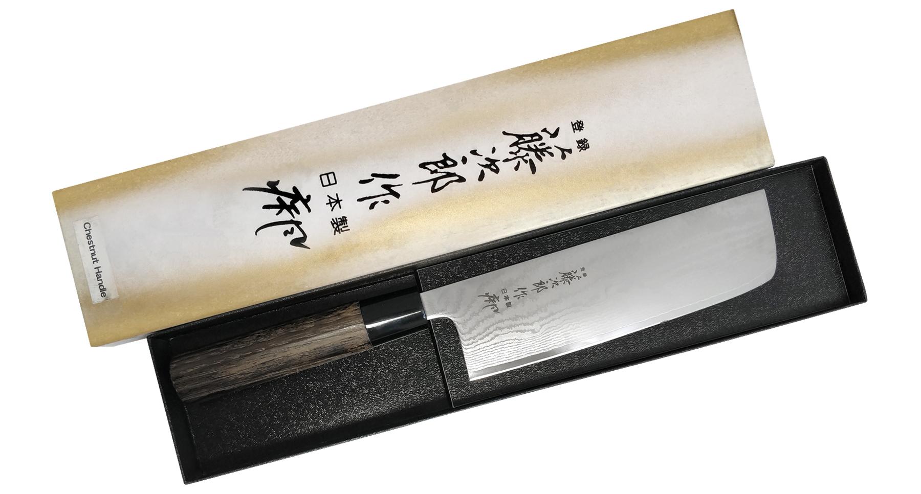 Фото 4 - Кухонный нож для овощей Накири, Zen, TOJIRO, FD-568, сталь VG-10, в картонной коробке